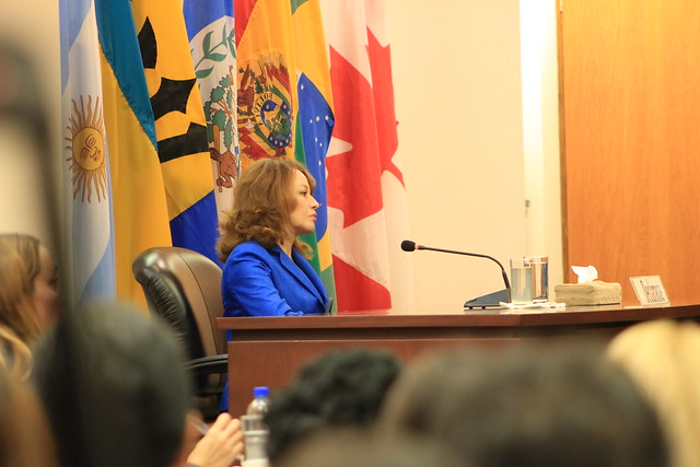 Judith Carvajal Carvajal before the Inter-American Court.