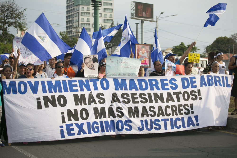 March in solidarity with the Mothers of April - Nicaragua