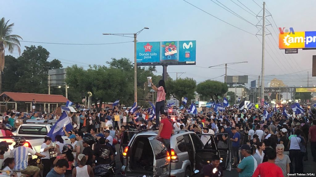 Protests in Managua, Nicaragua in 2018.